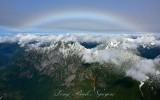 Garfield Mountain and Rainbow in Cascade Mountains 1091