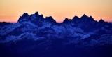 Chimney Rock and Overcoat Peak at sunrise Cascade Mountains Washington 022