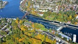 Ballard Lock and Ship Canal in autumn Seattle 302