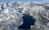 Chair Peak and Kaleetan Peak and Snow Lake Cascade Mountains 999
