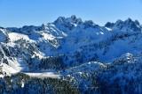 Gold Lake at Big Snow Mt Overcoat Peak and Chimney Rock Washington 248a