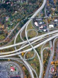 Interstate 5 and Highway 518 and 405 interchange Tukwila Washington 010a