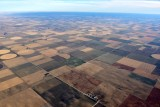 Flat landscape of western Kansas over town of Coronado Kansas 175
