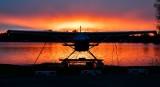 Sunset on Lake Hood Seaplane Base in Anchorage Alaska 007