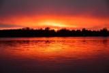 Sunset at 1035pm on Lake Hood Anchorage Alaska 030