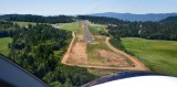On final to runway 16 at Angwin airport, California 222
