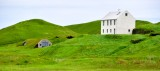 White house and turf barns by Vik Iceland 365