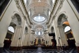 The Nave at St Aubin's Cathedral, Namur, Belgium 001
