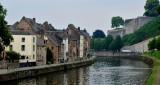 Buildings along Quai des Joghiers, Sambre River, Namur Belgium 098