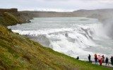 Visitors to Gullfoss waterfalls, Iceland 399