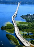 The New Evergreen Floating Bridge 405s acorss Lake Washington betweeen Seattle and Bellevue 008