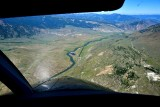 High final to Gardiner airport in Paradise Valley, Yellowstone River, Gardiner, Montana 226