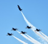 Blue Angels over head break, Boeing Field, Seattle, Washington 428a