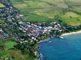 Aerial view of Paia, Maui, Hawaii 414