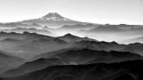 Mount Adams from morning flight in Piper Meridian 176