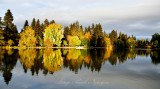 Sunset and reflection on Mirror Lake, Bend, Oregon 630