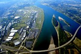 Portland International Airport, Columbia River, Government Island, I-205 Freeway, Oregon and Washington 291