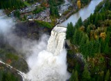 Raging Snoqualmie Falls, Snoqualmie River. Salish Lodge, Washington 209
