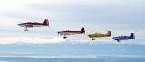 Perfect Formation of Blackjack Flight over Arlington Airport, 375