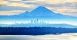 Mount Rainier, Seattle Skyline, Washington 008