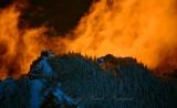 Fiery Sunset on Mount Si, Washington 1235