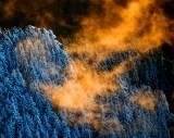 Fiery Sunset on Mount Si, Washington 1288a