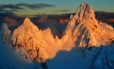 Gunn Peak at sunset in Cascade Mountains, Washington State 582