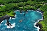 Waianapanapa Black Sand Beach, Honokalani Cemetery, Waianapanapa State Park, Hana, Maui, Hawaii 674