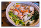 Scallop and Salmon Nabe