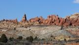 Rock Pinnacles at Arches National Park