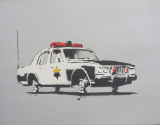 Cop Car on Blocks. 2002