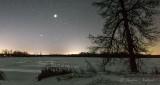 Jupiter & Venus Over Frozen Irish Creek P1370837-9