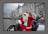 High Street is closed to traffic.. Santa Has Arrived