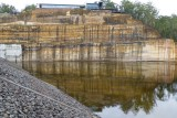 Auxillary spillway and stored water