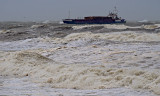 FINGAL, coming into Youghal in rough seas. (2 of 4)