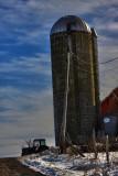 Silo With Farm Tractor