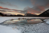 Vermillion Lakes Sunsets - December 2012