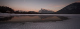 Vermillion Lakes Sunset Panoramic - December 2012