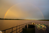 Sunset Rainbow over the Ucayali River