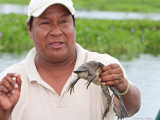 Segundo with a Surinam Toad