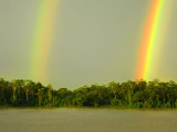 Double rainbow over the Ucayali River