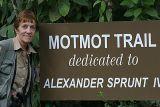 Joan at Asa Wright Lodge Motmot trail