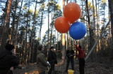 Ballons und Kamera