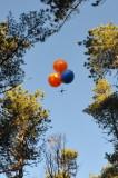 mit einer ballongetragenen Kamera