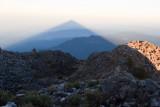 Proyeccion de la sombra del volcan sobre el horizonte