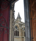 Looking Out a Door From Inside Notre Dame
