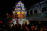 Procession of the silver chariot through the streets of KL
