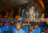Drummer boys lead the kavadi carrier