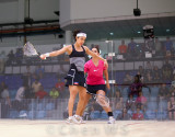 Nicol David (Malaysia) v Omneya Abdel Kawy (Egypt) crimson/black