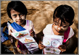 Young Girls Selling Their Art